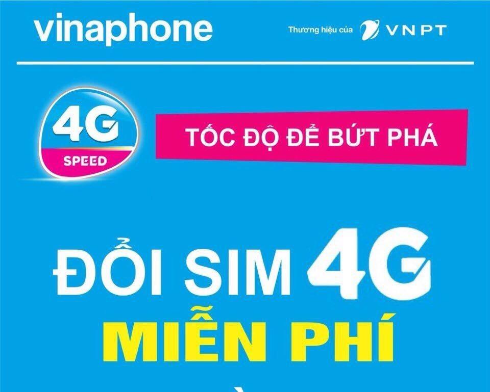 Đổi Sim 4G Vinaphone miễn phí trên toàn quốc
