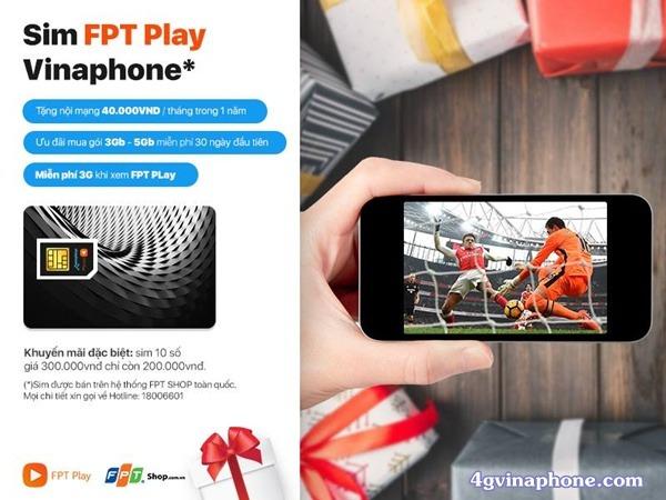 Hòa mạng Sim FPT Play Vinaphone xem bóng đá miễn phí
