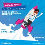Khuyến mãi giảm 50% cước đăng ký BIG70 Vinaphone tháng 7/2017