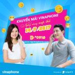 Vinaphone khuyến mãi ngày 14/7/2017 tặng 50% giá trị thẻ nạp