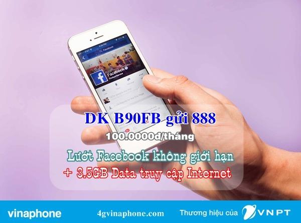 Đăng ký gói B90FB Vinaphone
