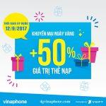 Chương trình Vinaphone khuyến mãi ngày 12/9/2017