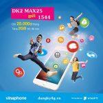 Đăng ký gói MAX25 Vinaphone
