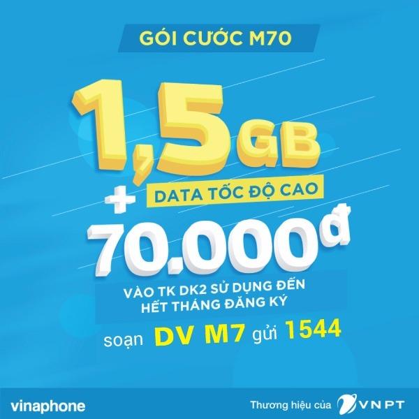 Đăng ký gói M70 Vinaphone