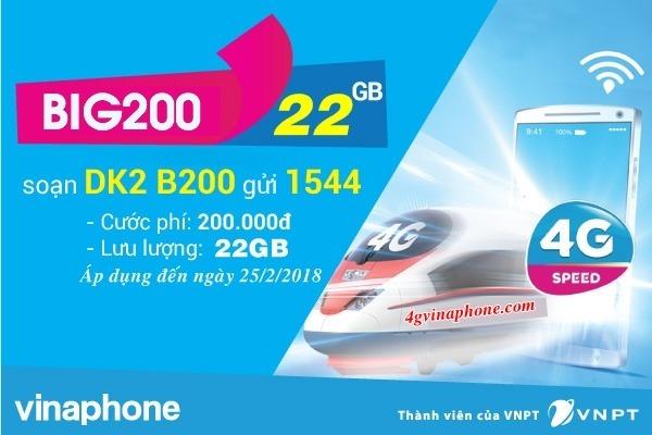 Đăng ký gói BIG200 Vinaphone