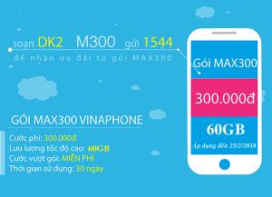 Đăng ký gói cước MAX300 Vinaphone