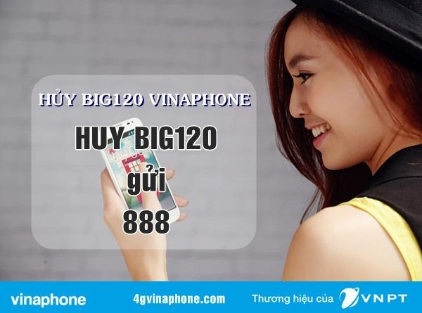 Cách hủy gói BIG120 Vinaphone