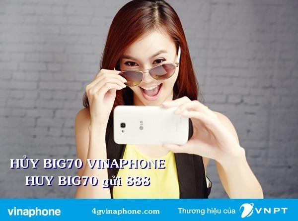 Cách Hủy gói BIG70 Vinaphone