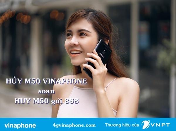 Cách hủy M50 Vinaphone