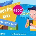 Chương trình Vinaphone khuyến mãi ngày 10/11/2017