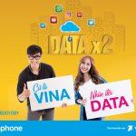 Khuyến mãi Vinaphone nhân đôi Data