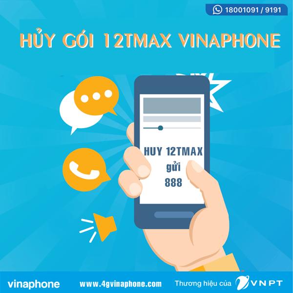 Hướng dẫn cách hủy gói 12TMAX Vinaphone