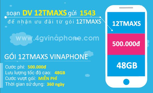 Đăng ký gói cước 12TMAXS Vinaphone