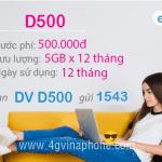 Đăng ký gói D500 Vinaphone trọn gói 12 tháng
