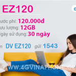 Đăng ký gói EZ120 Vinaphone nhận 12GB