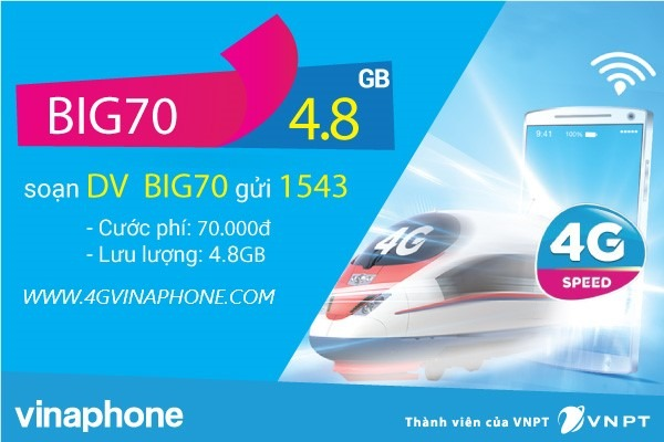 Đăng ký gói BIG70 Vinaphone