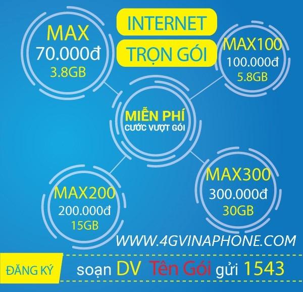 Gói cước 3G Vinaphone trọn gói