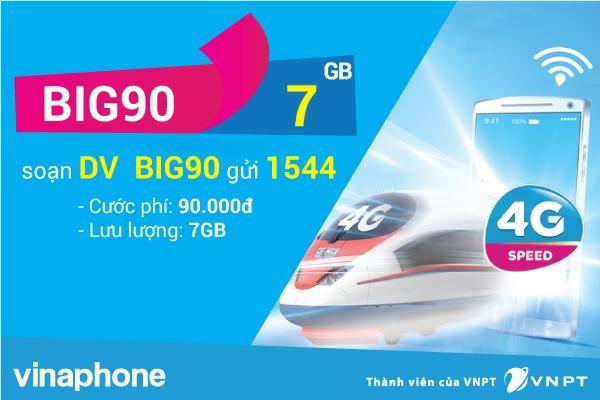 Đăng ký gói cước BIG90 Vinaphone