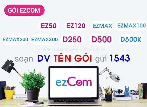 Đăng ký gói cước EZCom Vinaphone