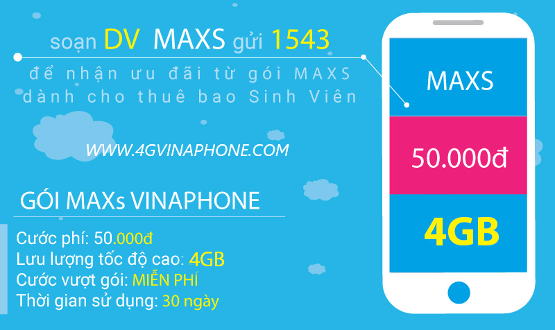 Đăng ký gói MAXS Vinaphone sinh viên