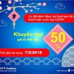 Chương trình Vinaphone khuyến mãi EZPay ngày 7/2/2018