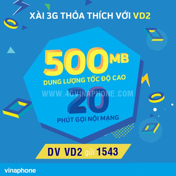 Đăng ký gói VD2 Vinaphone theo ngày