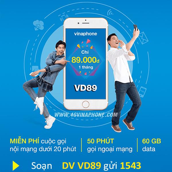Đăng ký gói cước VD89 Vinaphone nhận ưu đãi khủng