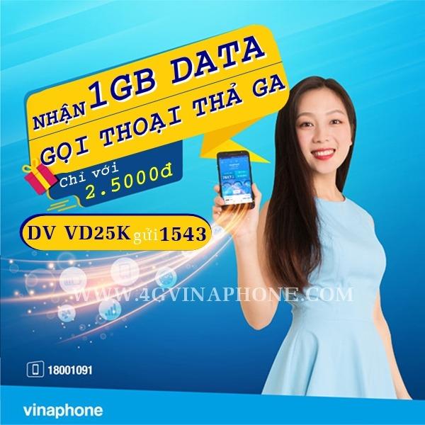 Đăng ký gói VD25K Vinaphone