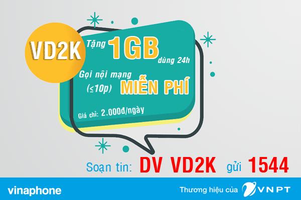 Đăng ký gói VD2K Vinaphone