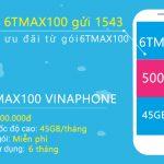 Cách đăng ký gói 6TMAX100 Vinaphone