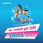 Đăng ký gói THAGA Vinaphone nhận 100GB Data