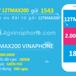 Đăng ký gói 12TMAX200 Vinaphone