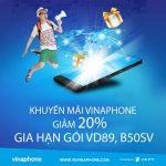 Chương trình Vinaphone khuyến mãi gia hạn gói VD89, B50SV Vinaphone