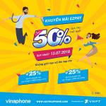Chương trình Vinaphone khuyến mãi EZPAY ngày 13/7
