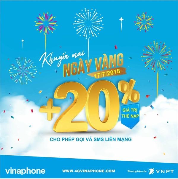 Chương trình Vinaphone khuyến mãi ngày 17/7/2018