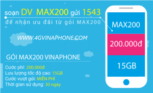 Đăng ký gói MAX200 Vinaphone