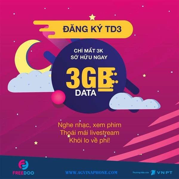 Cách đăng ký gói TD3 Vinaphone