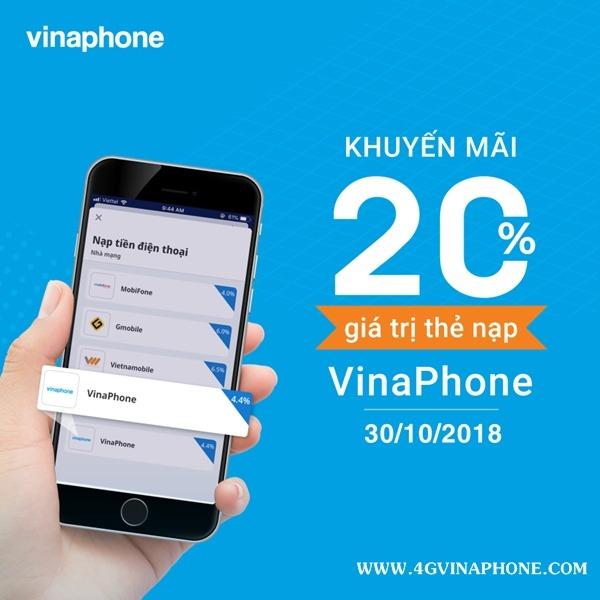 Chương trình Vinaphone khuyến mãi ngày 30/10/2018