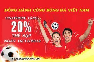 Khuyến mãi Vinaphone 16/11/2018 tặng 20% thẻ nạp Ngày Vàng hấp dẫn