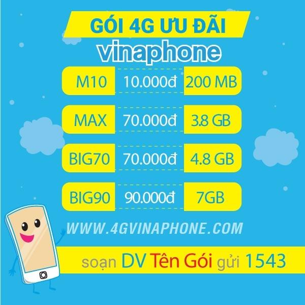 Cách đăng ký 4G Vinaphone giá rẻ mới nhất 2019