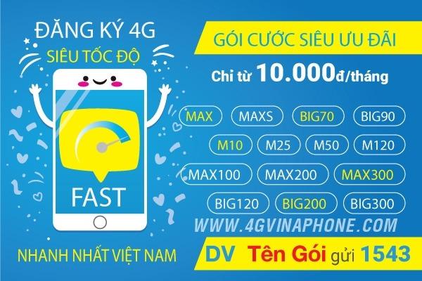 Cách đăng ký 4G Vinaphone mới nhất 2020