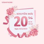 Vinaphone khuyến mãi ngày 24/5/2019 tặng 20% giá trị thẻ nạp