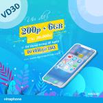 Đăng ký gói VD30 Vinaphone nhận ưu đãi Data, gọi thoại hấp dẫn