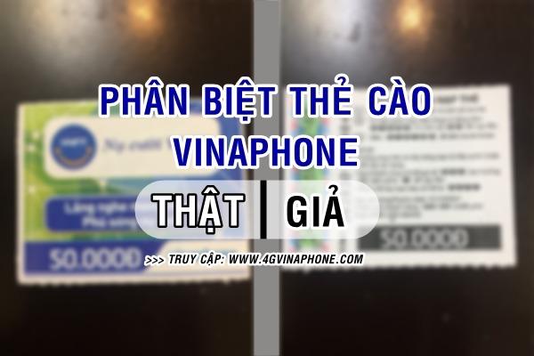 Cách phân biệt thẻ cào Vinaphone thật giả