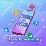 Gói cước 3G Vinaphone 1 ngày