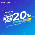 Vinaphone khuyến mãi ngày 30/8/2019 tặng 20% thẻ nạp