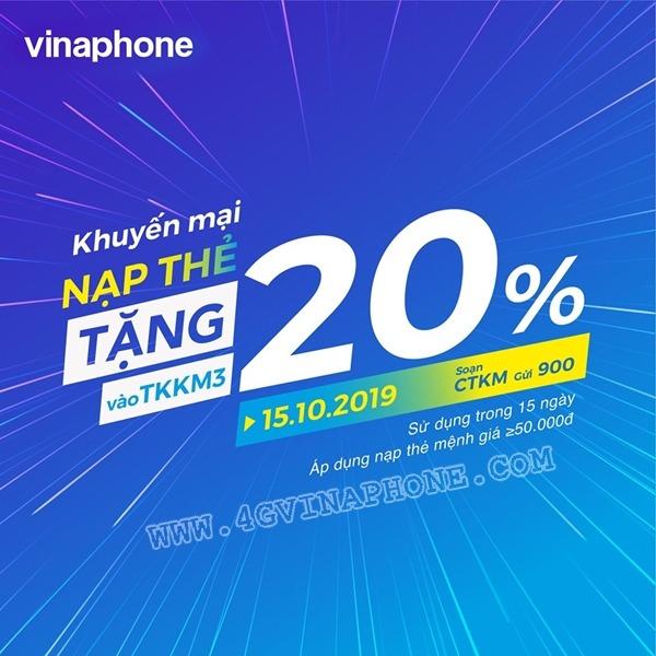 Vinaphone khuyến mãi ngày 15/10/2019