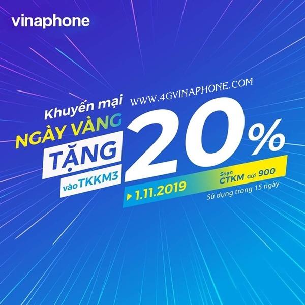 Vinaphone khuyến mãi ngày 1/11/2019