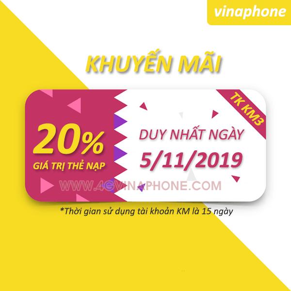 Vinaphone khuyến mãi ngày 5/11/2019