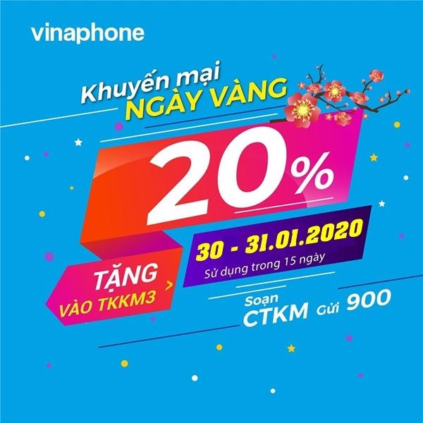 Vinaphone khuyến mãi ngày 30 - 31/1/2020